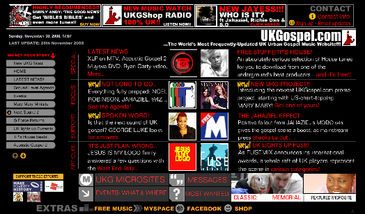 UKGospel version 1 screengrab