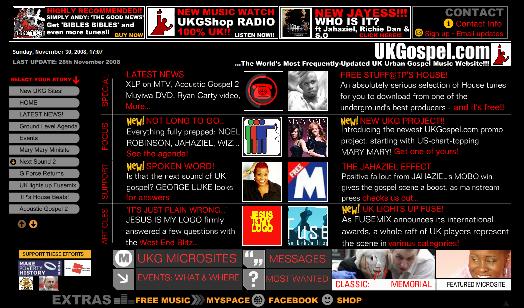 UKGospel version 1 screengrab