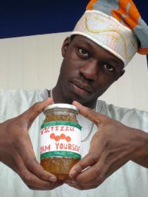 Victizzle holding jar - Jam Yourself!