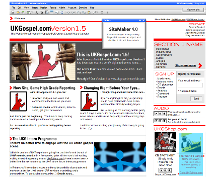 UKGospel.com 1.5 Pre-launch Screengrab
