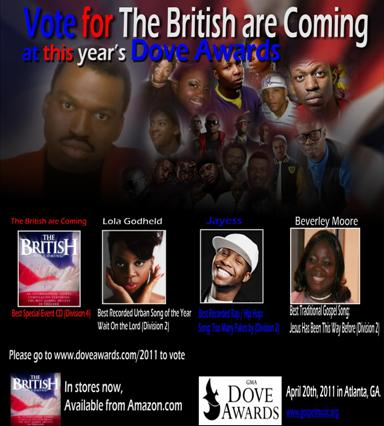 Brits Are Coming Dove Awards 2011 nomination promo flyer