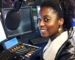 Faith Jegede in Capital FM studios