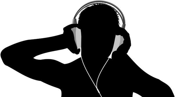 Listening on Headphones (Silhoutette)