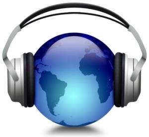 Globe and Headphones