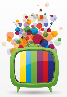 TV - colourful graphic