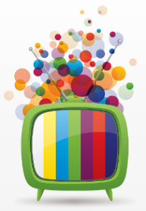 TV - colourful graphic