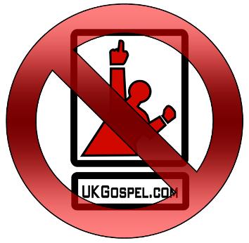 UKGospel.com logo and Stop Sign