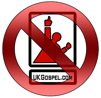 UKGospel.com logo and Stop Sign