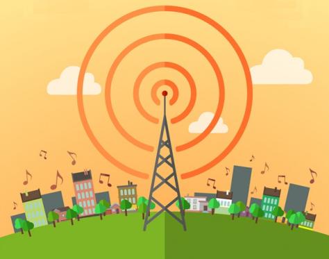 Radio Signal Broadcast Graphic