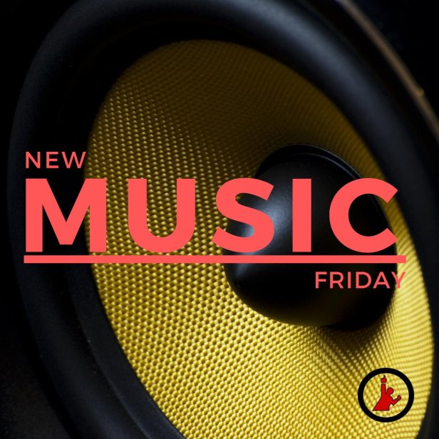 New Music Friday - Black and gold speaker
